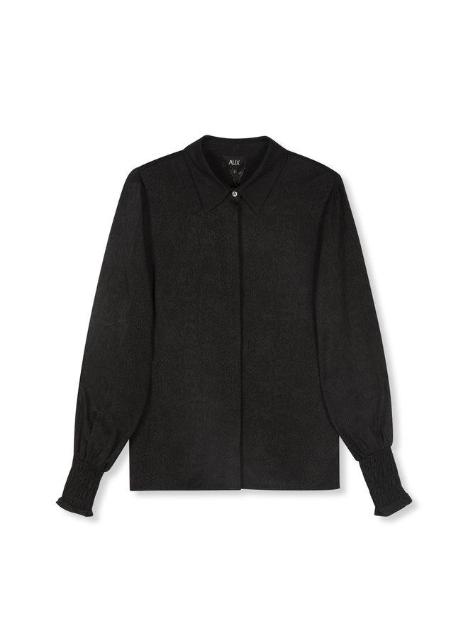 ALIX The Label blouse Woven Animal Black