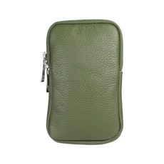 Baggyshop Baggyshop tas Call Me Up Leather Groen/Zilver