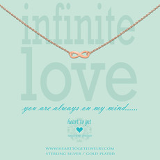 Heart to Get Heart to Get ketting Infinity Rosé Gold Plated