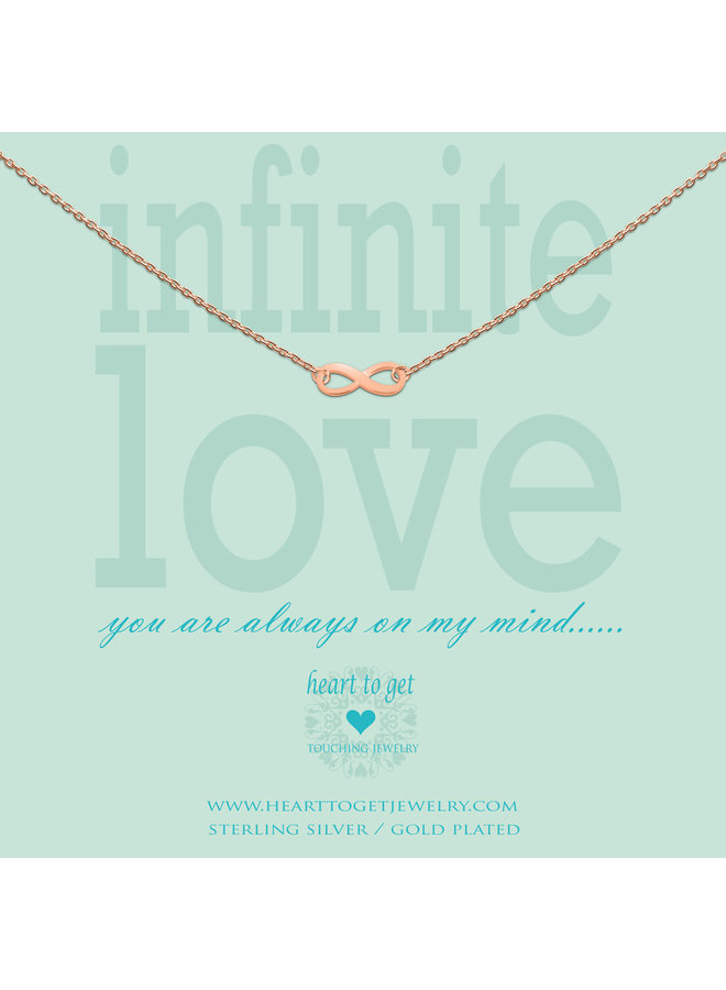 Heart to Get ketting Infinity Rosé Gold Plated