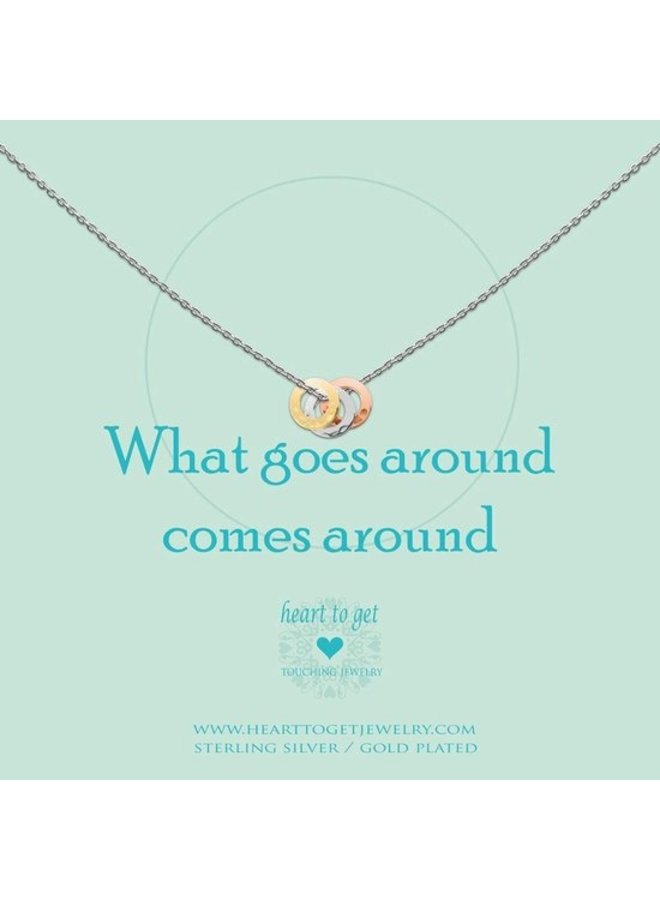 Heart to Get ketting What Goes Around Silver