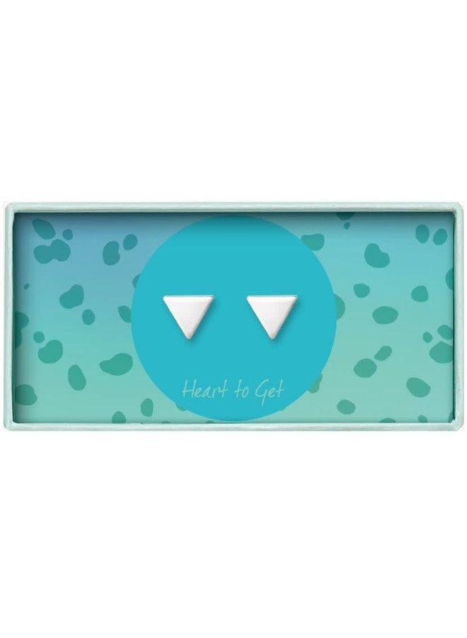 Heart To Get oorbellen Triangle Silver