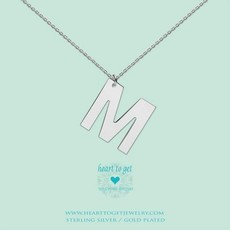 Heart to Get Heart to Get ketting Big Initial M Silver
