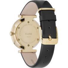 CLUSE CLUSE horloge Triomphe Leather Black/Gold