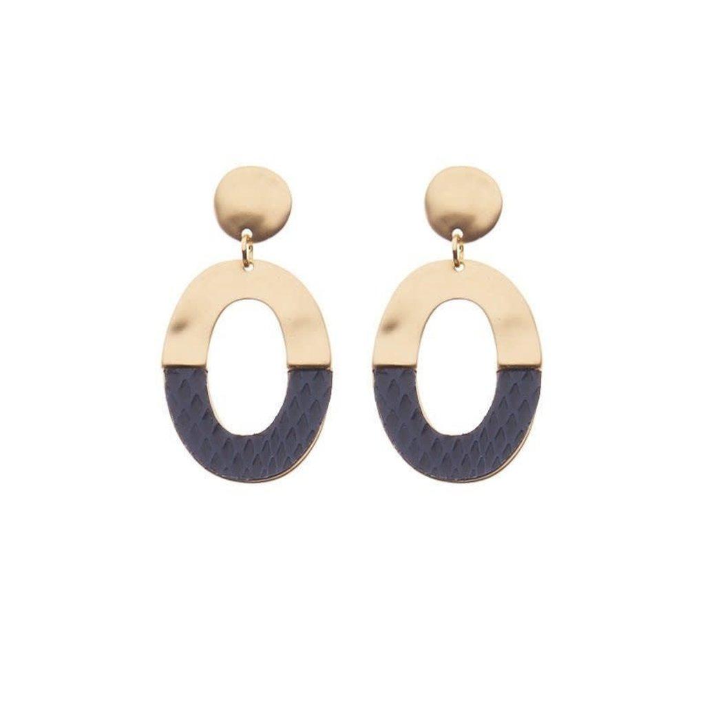 Biba Biba oorbellen 81557 Blue Gold Plated