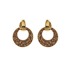 Biba Biba oorbellen 81567 Brown Spots Gold Plated