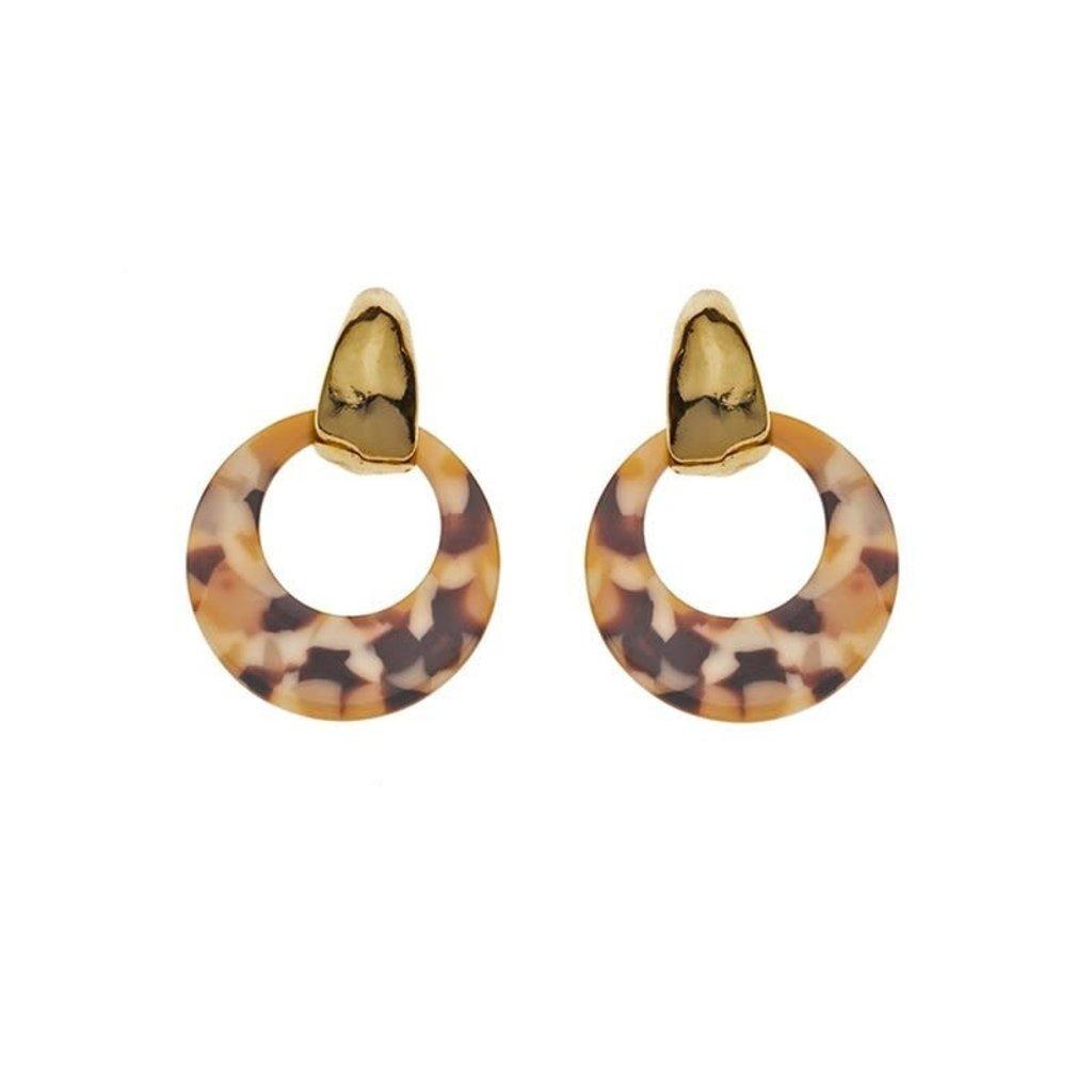 Biba Biba oorbellen 81567  Marble Gold Plated