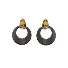 Biba Biba oorbellen 81567 Green Gold Plated