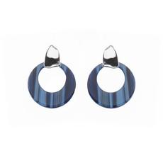 Biba Biba oorbellen 81568  Blue Silver Plated