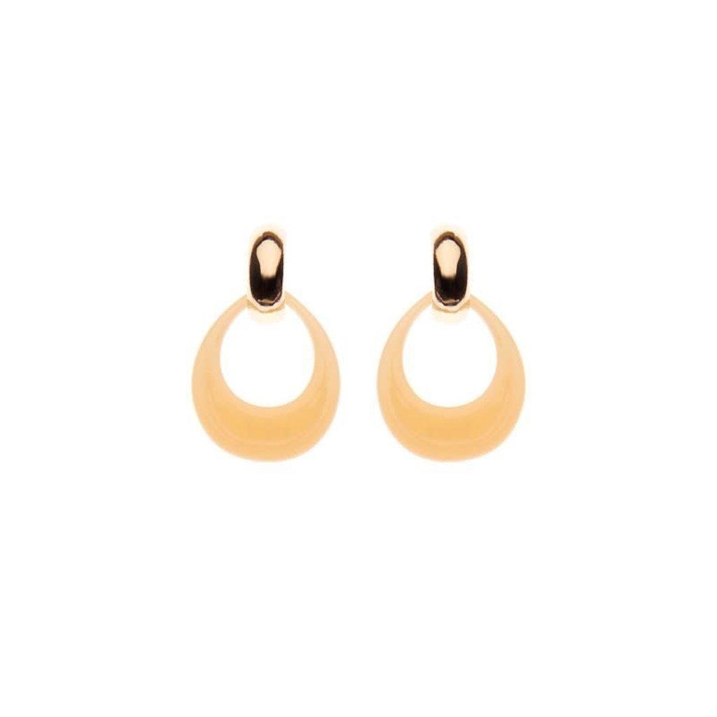 Biba Biba oorbellen 81569 Peach Gold Plated