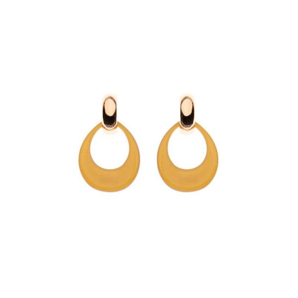 Biba Biba oorbellen 81569 Ocker Gold Plated