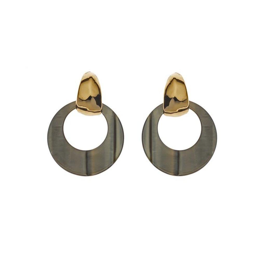 Biba Biba oorbellen 81567 Olive Gold Plated