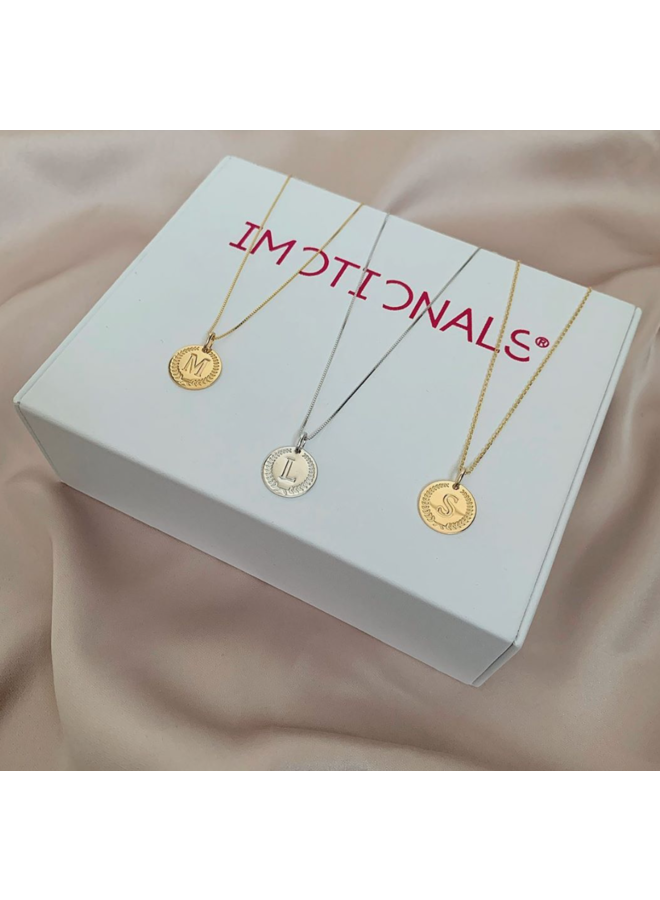 Imotionals Ibiza letter A-Z Gold Plated