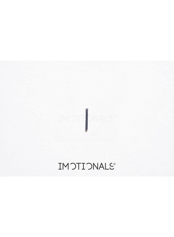 Imotionals Symbol hanger 21 Balk Recht Silver