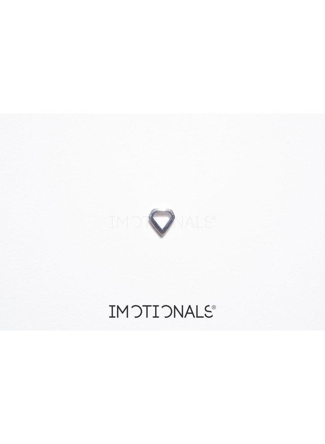 Imotionals Symbol hanger 25 Vijfhoek Silver