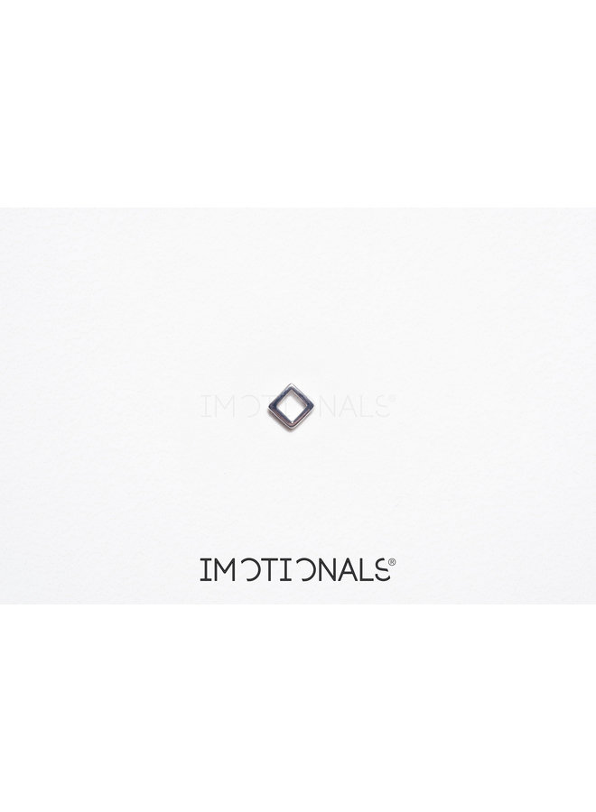 Imotionals Symbol hanger 26 Vierkant Klein Silver