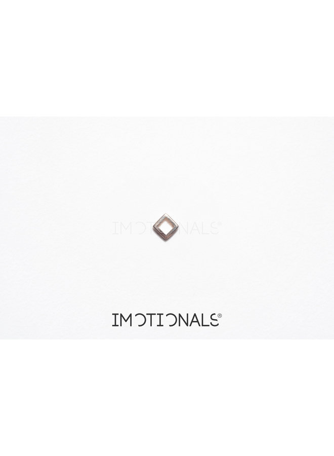 Imotionals Symbol hanger 26 Vierkant Klein Gold Plated