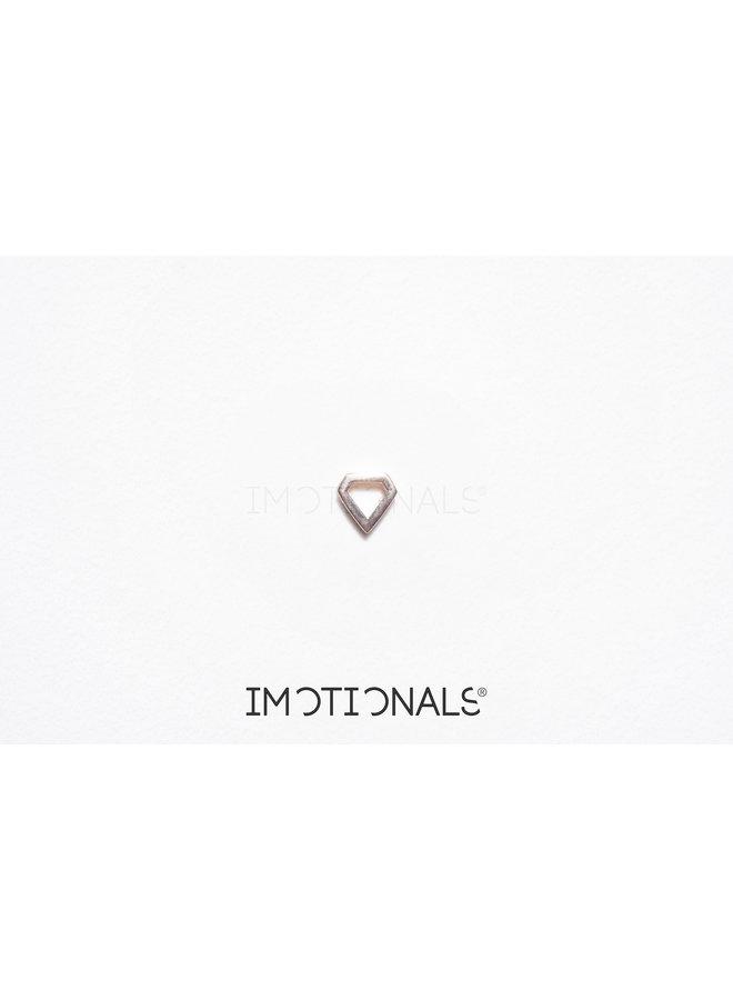 Imotionals Symbol hanger 25 Vijfhoek Gold Plated