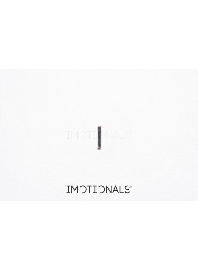 Imotionals Symbol hanger 21 Balk Recht Gold Plated