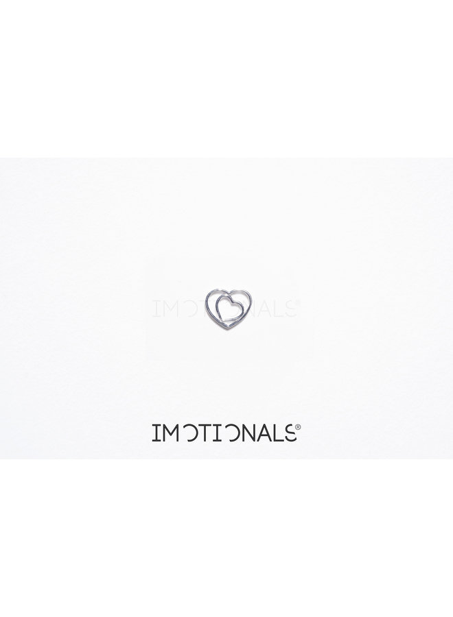 Imotionals Symbol hanger 66 Hart Dubbel Silver