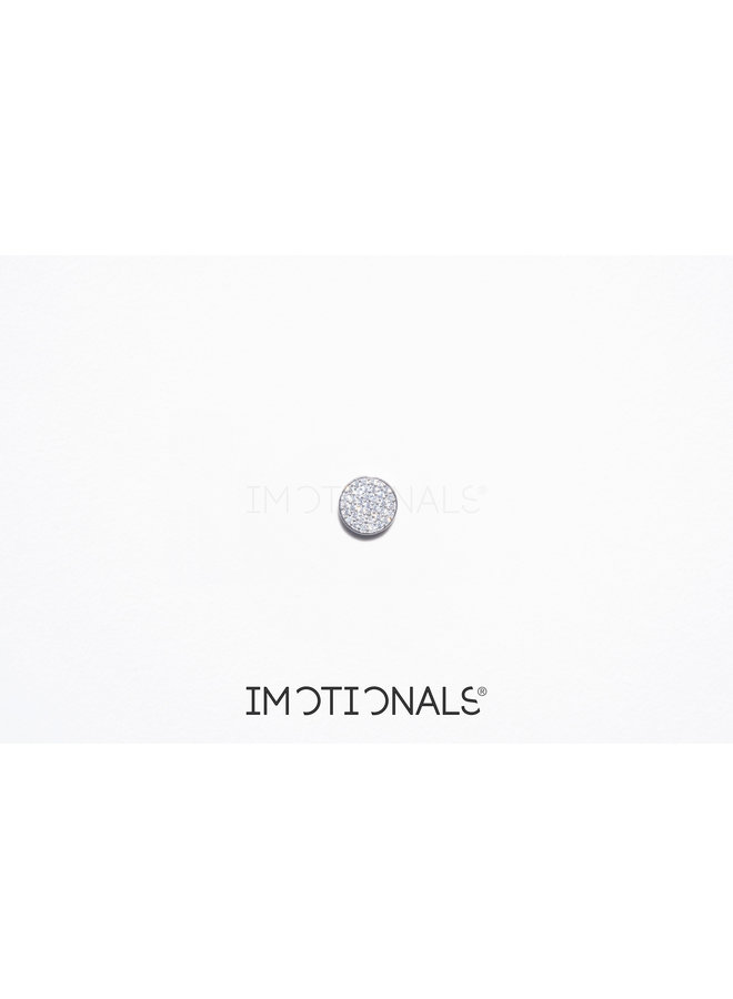Imotionals Symbol hanger 81 Munt Sparkling Silver