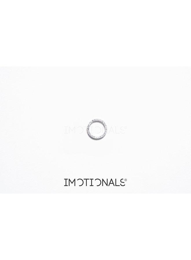 Imotionals Symbol hanger 65 Circle Of Life Crystal Silver