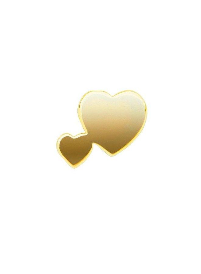 Imotionals Symbol hanger 36 Dubbel Hart Gold Plated