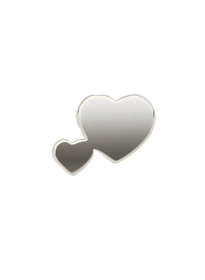 Imotionals Symbol hanger 36 Dubbel Hart Silver