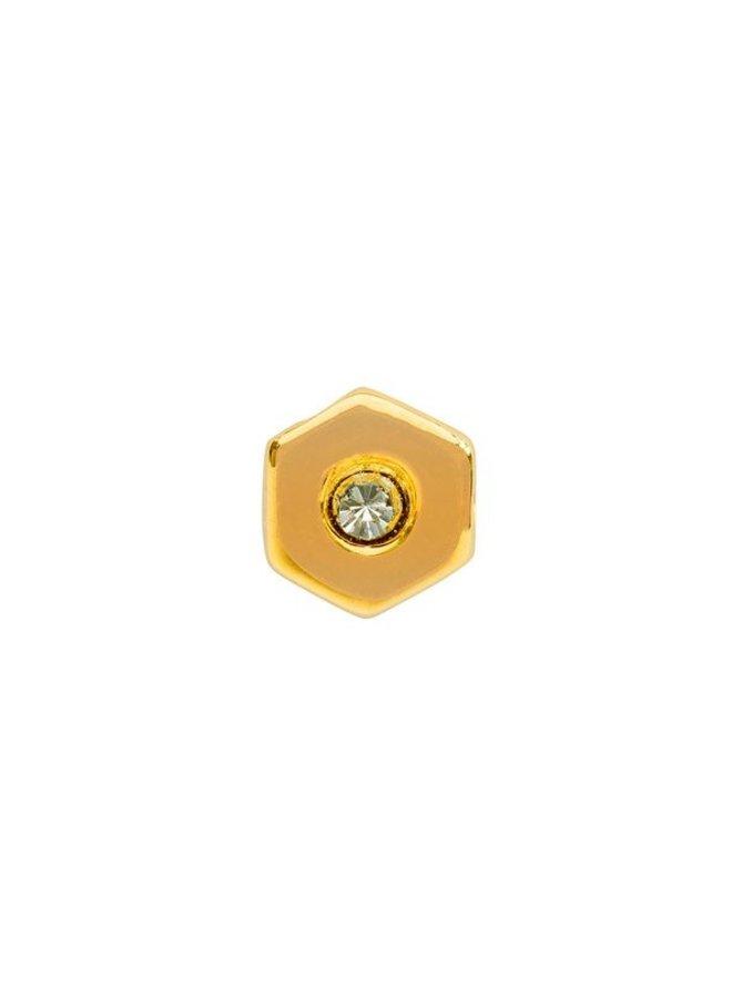 Imotionals Symbol hanger 4 Zeshoek 1 Steen Gold Plated