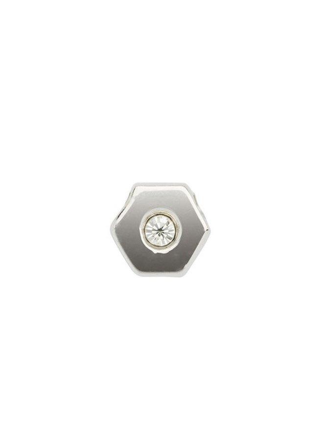 Imotionals Symbol hanger 4 Zeshoek 1 Steen Silver