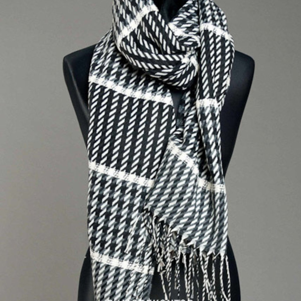 P-Modekontor P-Modekontor sjaal 5734230-9 Zwart/Wit