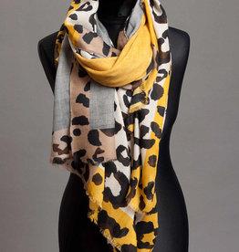 P-Modekontor P-Modekontor sjaal 3421237-3 Black/Yellow