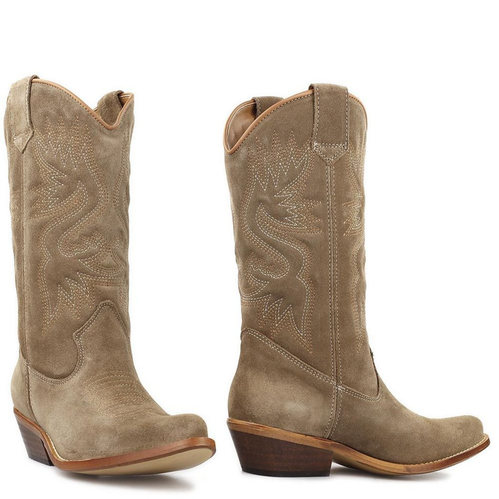 DWRS DWRS laarzen High Texas Suede Taupe