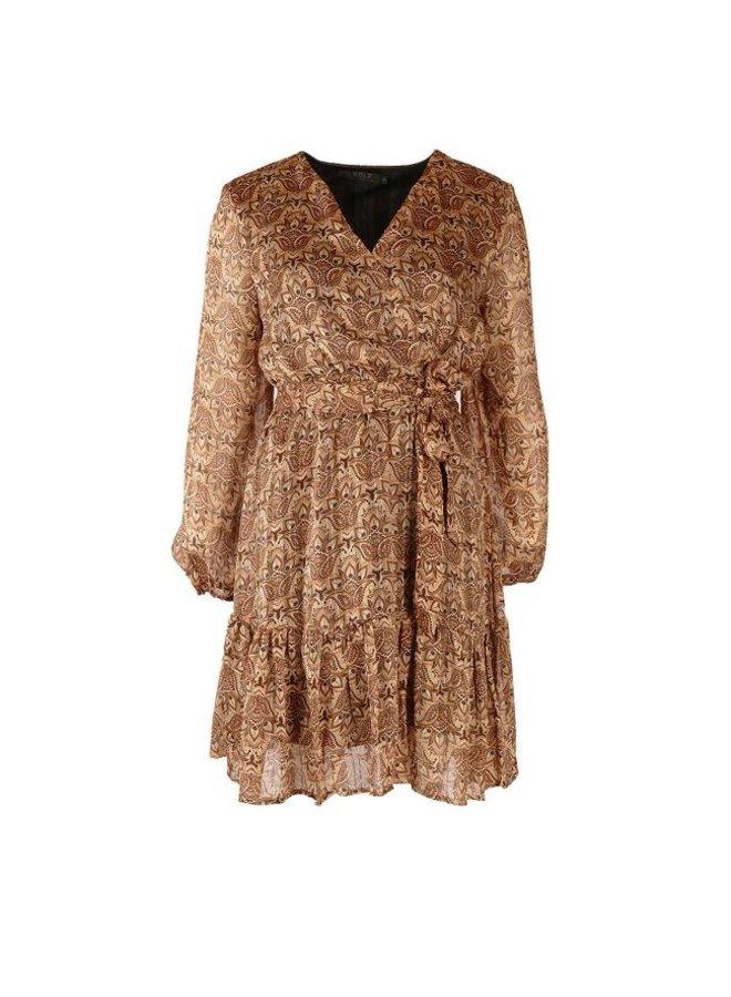 Rebelz jurk Nina Print Beige