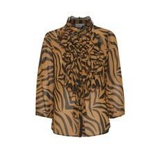Saint Tropez Saint Tropez blouse Lilly Pecan Zebra Skin