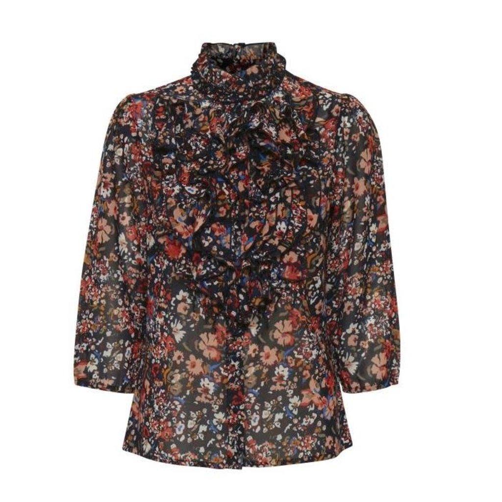 Saint Tropez Saint Tropez blouse Lilly Blue Deep Artica Florals
