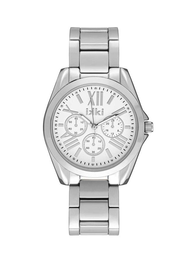 iKKi horloge Nova NV01 Silver/Silver