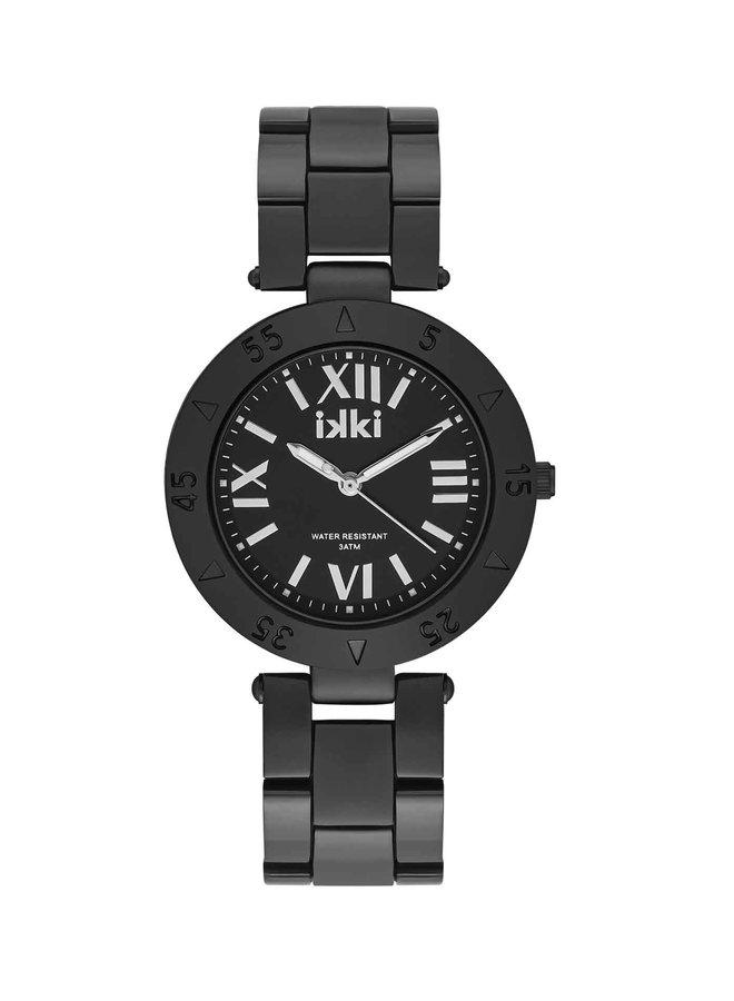 iKKi horloge Paige PG03 Black/Silver