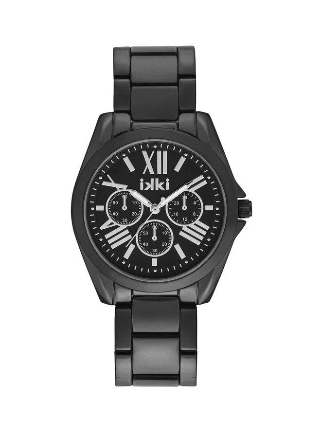 iKKi horloge Nova NV05 Black/Silver