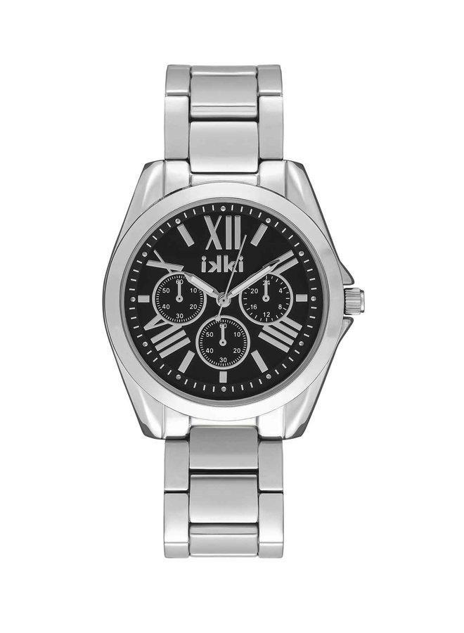 iKKi horloge Nova NV06 Silver/Black