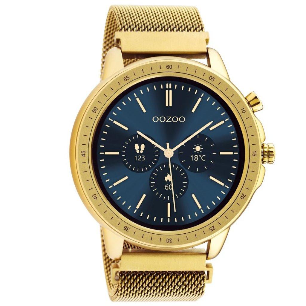 OOZOO OOZOO Smartwatch Q00306 Goud Mesh