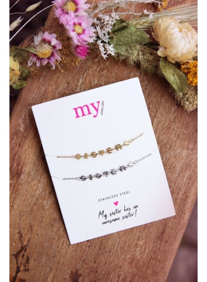 My Jewellery armband  Set Sisters Bi Colour