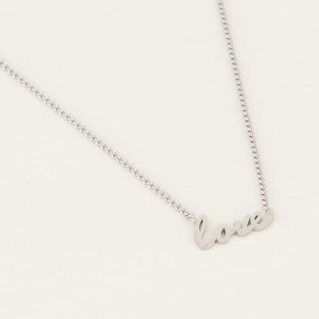 My Jewellery My Jewellery ketting Love Zilverkleurig