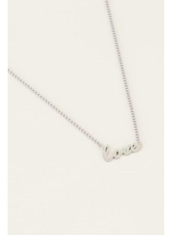 My Jewellery ketting Love Zilverkleurig
