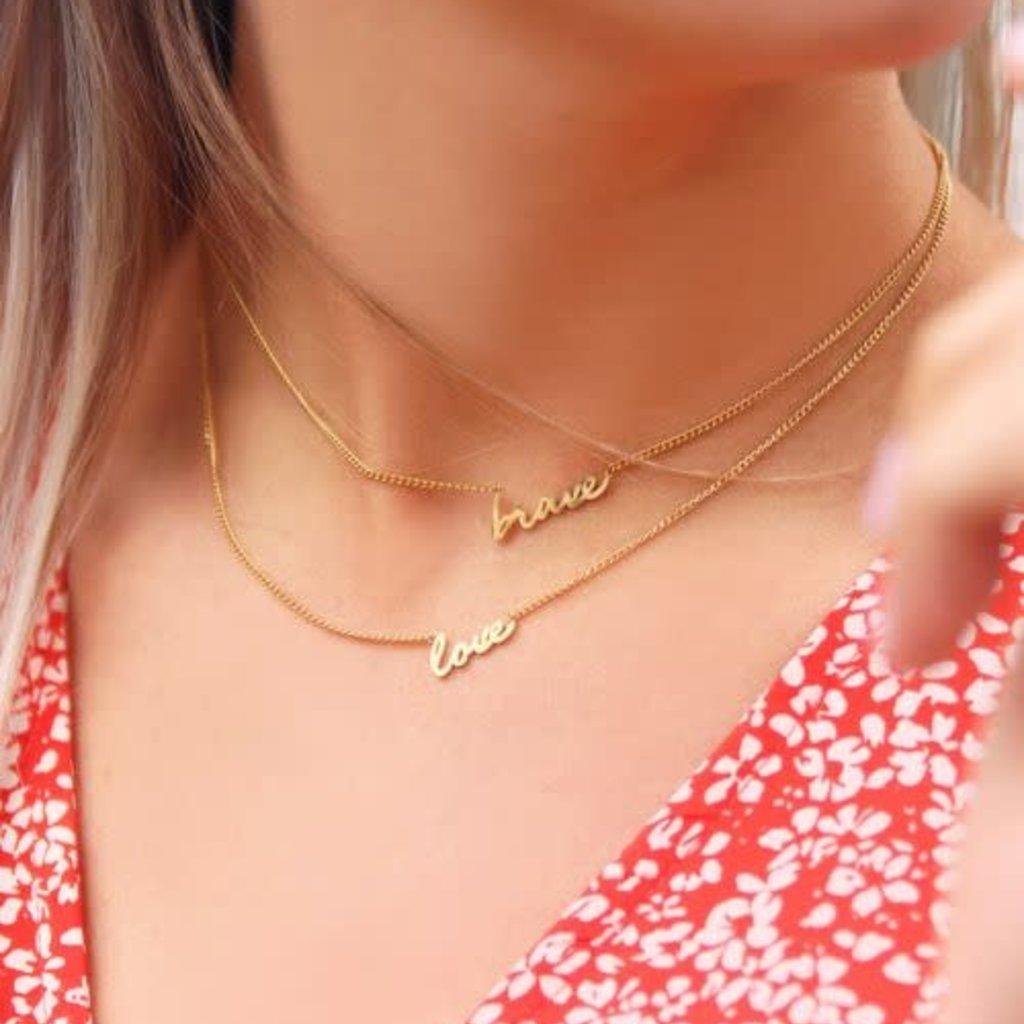 My Jewellery My Jewellery ketting Love Goudkleurig