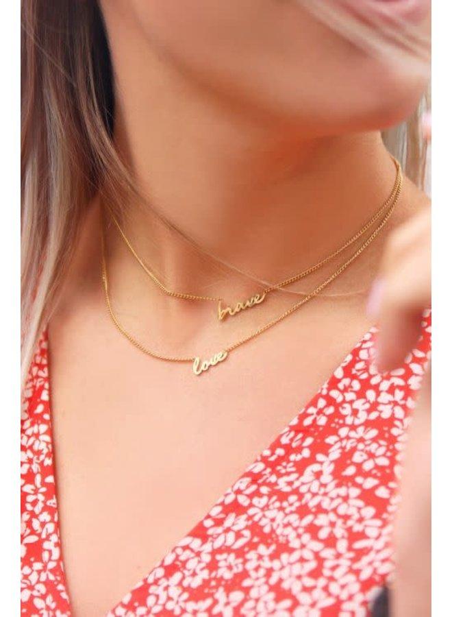 My Jewellery ketting Love Goudkleurig