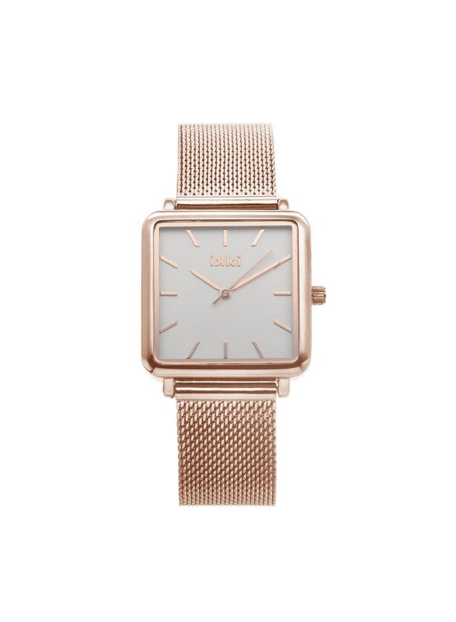 iKKi horloge Tenzin TE02 Rosé/Wit