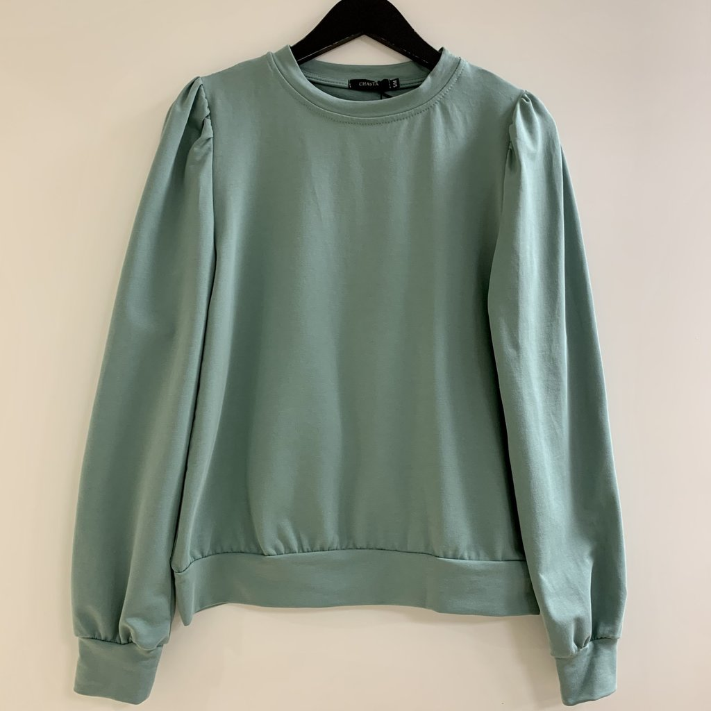 Jewelz & More Sweater Pofmouw Groen