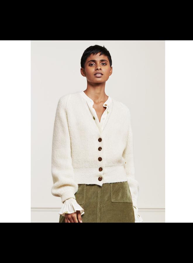 Fabienne Chapot Vest Starry Cream White