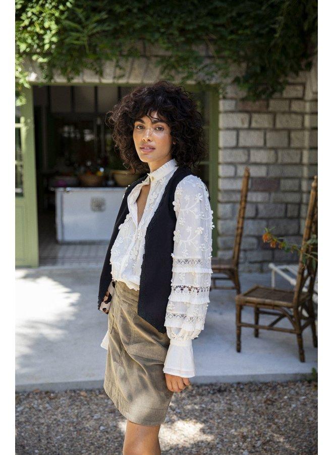 Fabinne Chapot Gilet Gillian Oatmeal Panther Love